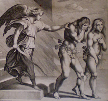 Michael expels Adam and Eve from Paradise