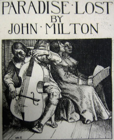 Milton playing to his daughters