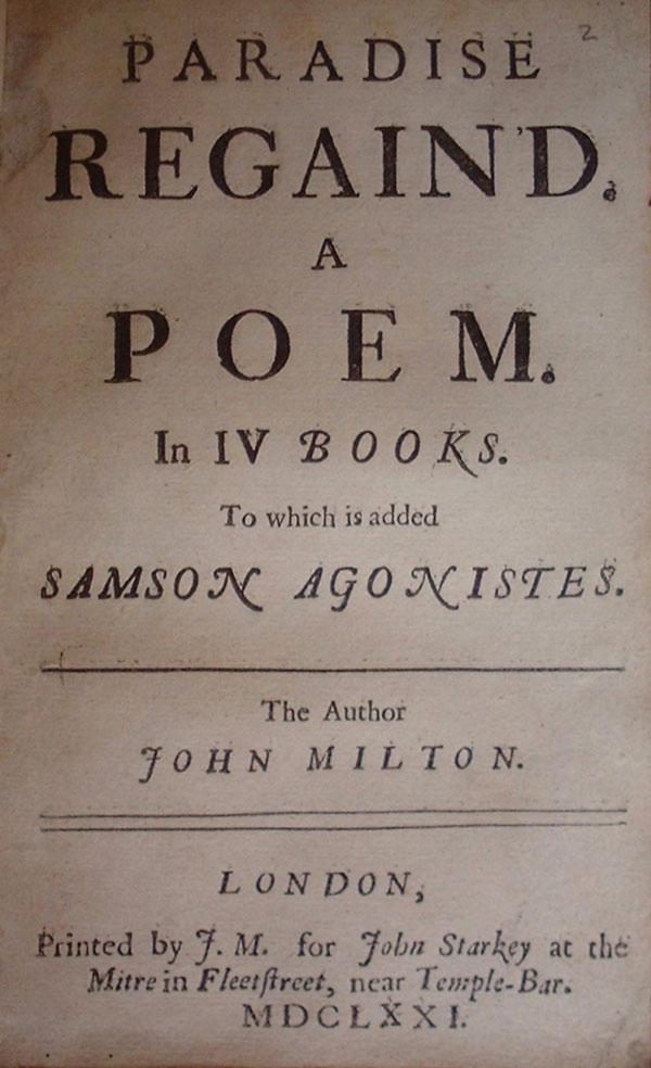 Describing the tragic hero in the epic poem paradise lost
