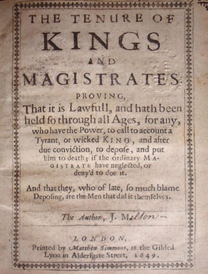 Tenure of Kings and Magistrates